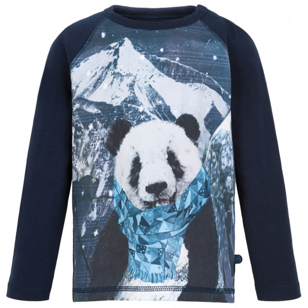 Minymo - Kid's T-Shirt Panda Scarf L/S with Print - Longsleeve