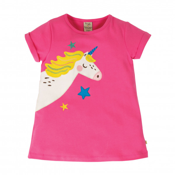 Frugi - Kid's Lizzie Applique Top - Camiseta de manga corta