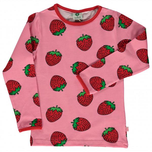 Smafolk - Kid's T-Shirt with Strawberries - Longsleeve