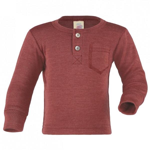 Engel - Baby Shirt mit Knopfleiste - Merinoshirt