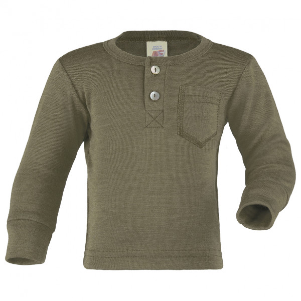 Engel - Baby Shirt mit Knopfleiste - Merino shirt