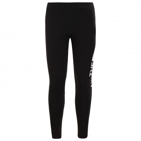 The North Face - Girl's Cotton Blend Big Logo Leggings - Leggings