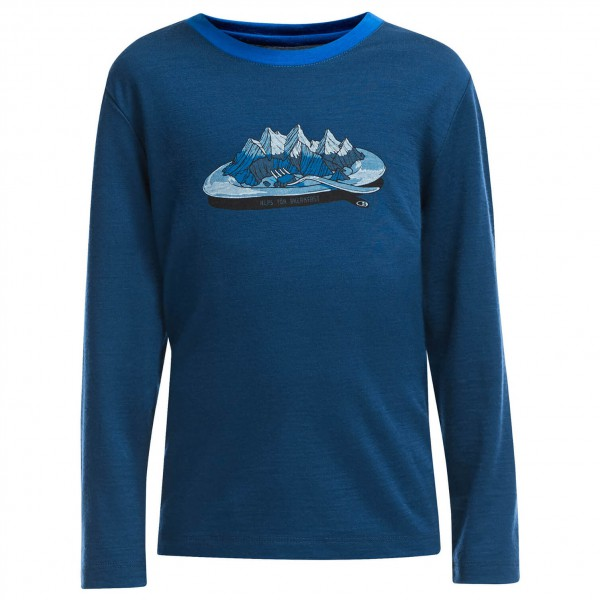 Icebreaker - Kid's Tech L/S Crewe Alps For Breakfast