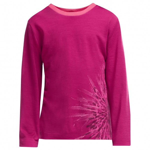 Icebreaker - Kid's Tech L/S Crewe Chrysanthenum