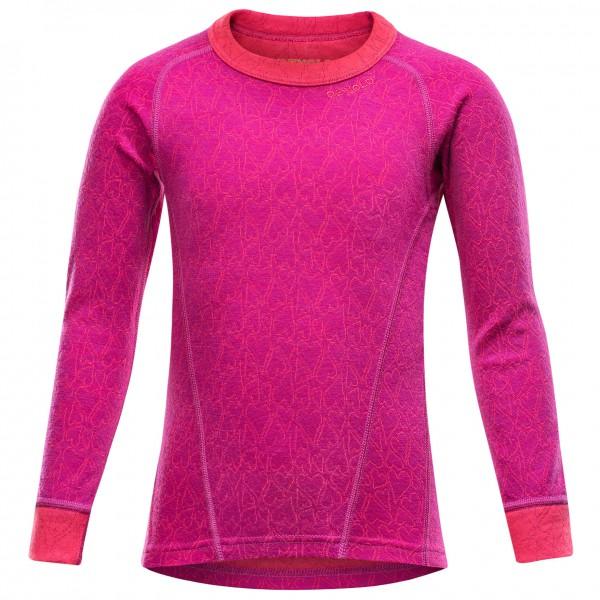 Devold - Active Happy Heart Kid Shirt - Merinovilla-alusvaat