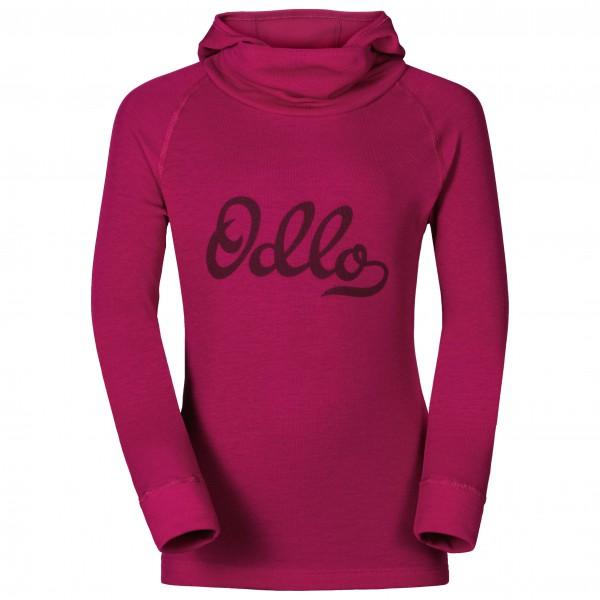 Odlo - Shirt L/S With Facemask Warm Kids - Syntetisk undertøj
