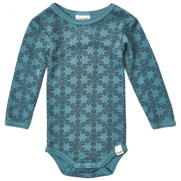 CeLaVi - Kid's Body L/S AO-Printed Wool - Merinovilla-alusva