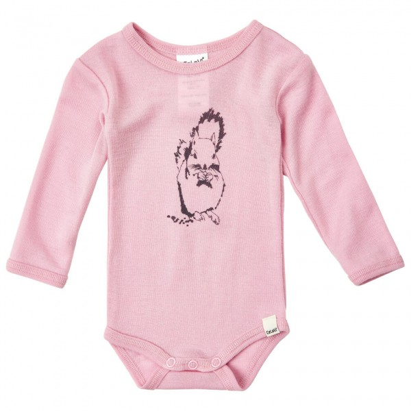 CeLaVi - Kid's Body L/S Chest-Print Wool - Merino ondergoed