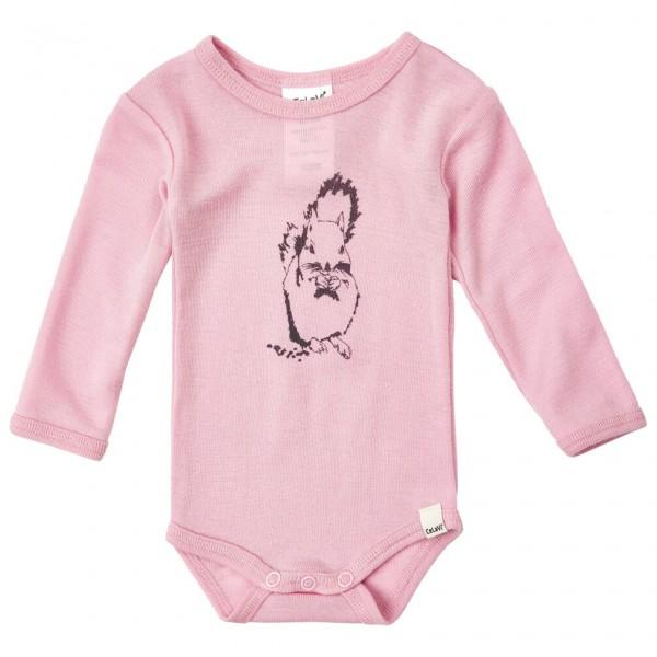 CeLaVi - Kid's Body L/S Chest-Print Wool - Merinounterwäsche