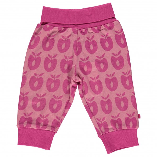 Smafolk - Baby Pants Merino Wool Apples - Merino base layers