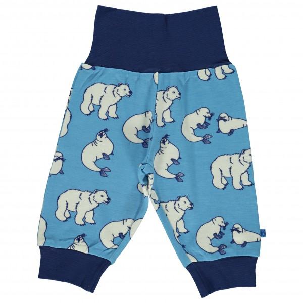 Smafolk - Baby Pants Wool Polarbear - Merino base layers
