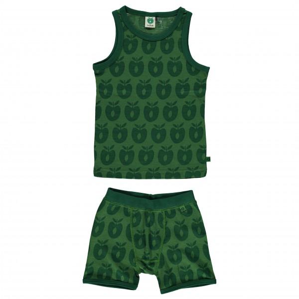 Smafolk - Boy Underwear Wool Apples - Merinovilla-alusvaatte