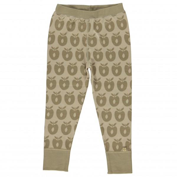 Smafolk - Kid's Leggins Wool Apples - Merinovilla-alusvaatte