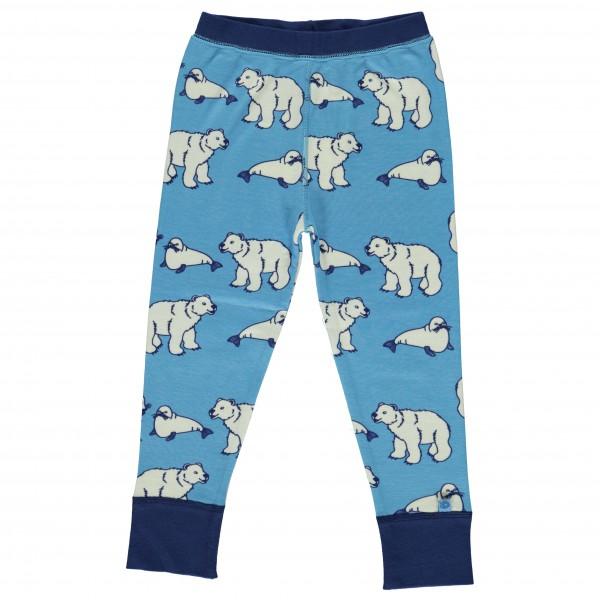 Smafolk - Kid's Leggins Wool Polarbear - Merinovilla-alusvaa