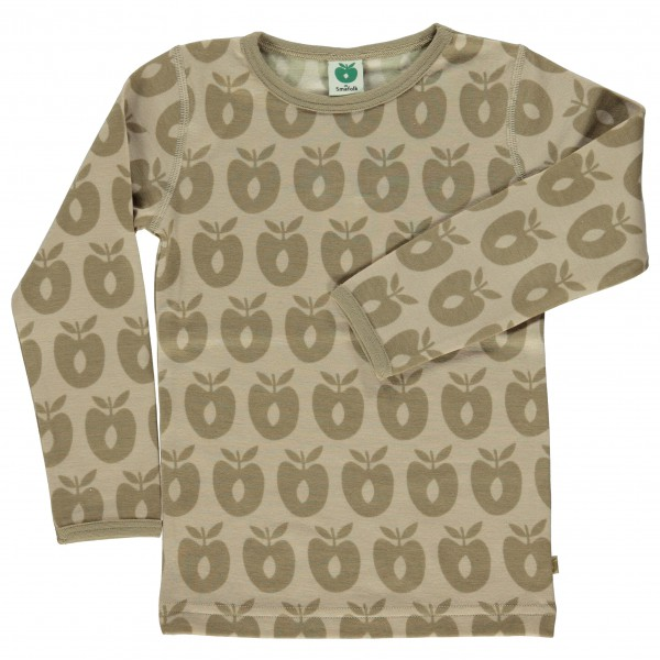 Smafolk - Kid's T-Shirt Wool Apples - Merinovilla-alusvaatte