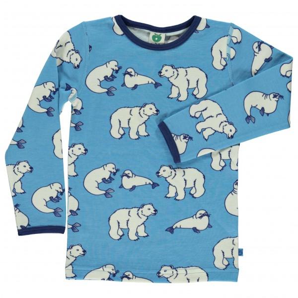 Smafolk - Kid's T-Shirt Wool Polarbear - Longsleeve