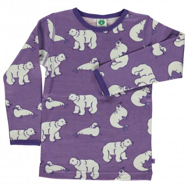 Smafolk - Kid's T-Shirt Wool Polarbear - Long-sleeve