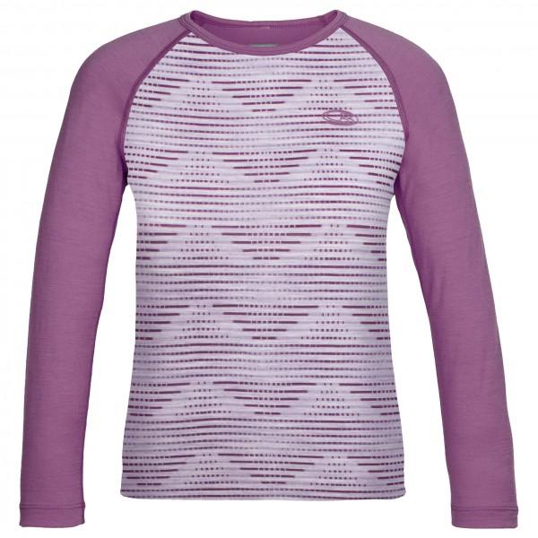 Icebreaker - Kids Oasis L/S Crewe Diamond Line - Merino undertøj