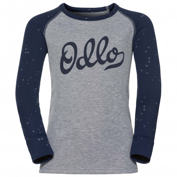 Odlo - Shirt L/S Crew Neck Warm Trend Kids - Syntetisk undertøy
