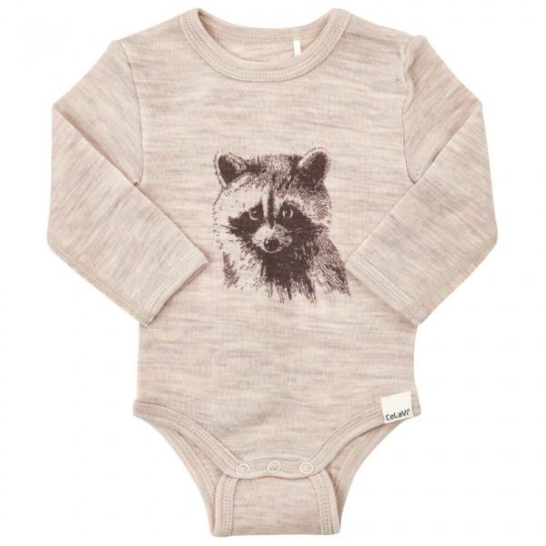 CeLaVi - Kid's Body L/S Front Print Wool - Merino ondergoed
