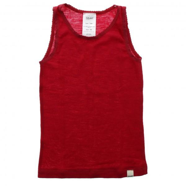 CeLaVi - Kid's Sleeveless Undershirt Coloured Wool - Merino base layer