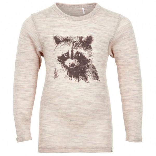 CeLaVi - Kid's Undershirt L/S Chestprint Wool Racoon