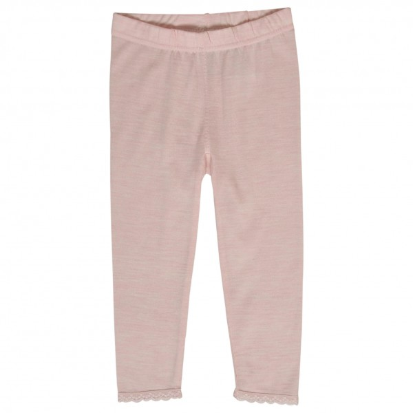 Hust&Claire - Kid's Legging with Lace - Merinoundertøy