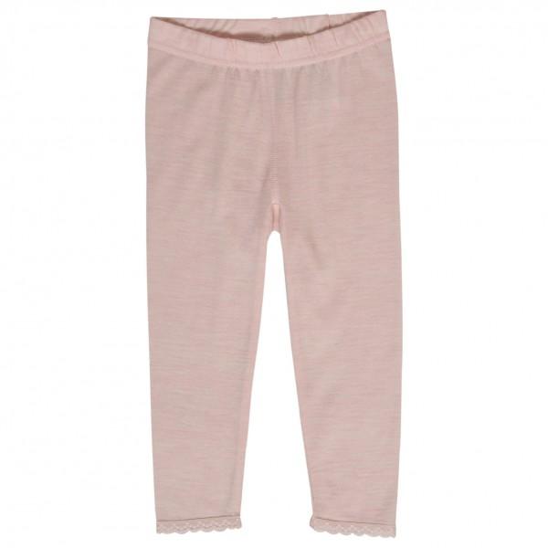 Hust&Claire - Kid's Legging with Lace - Ropa interior merino