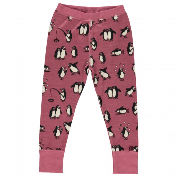 Smafolk - Kid's Wool Leggings Penguins - Underkläder merinoull