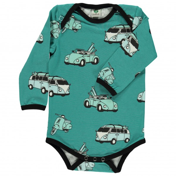 Smafolk - Kid's Body With Cars - Everyday base layer