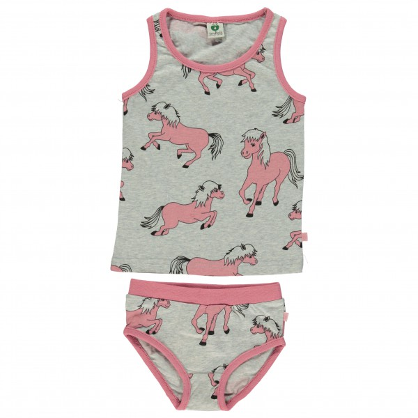 Smafolk - Kid's Underwear With Horses - Perusalusvaatteet