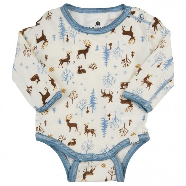 CeLaVi - Kid's Body L/S All Over Print - Merino undertøj