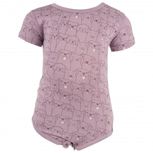 Hust&Claire - Kid's Bue Bodystocking S/S - Underkläder