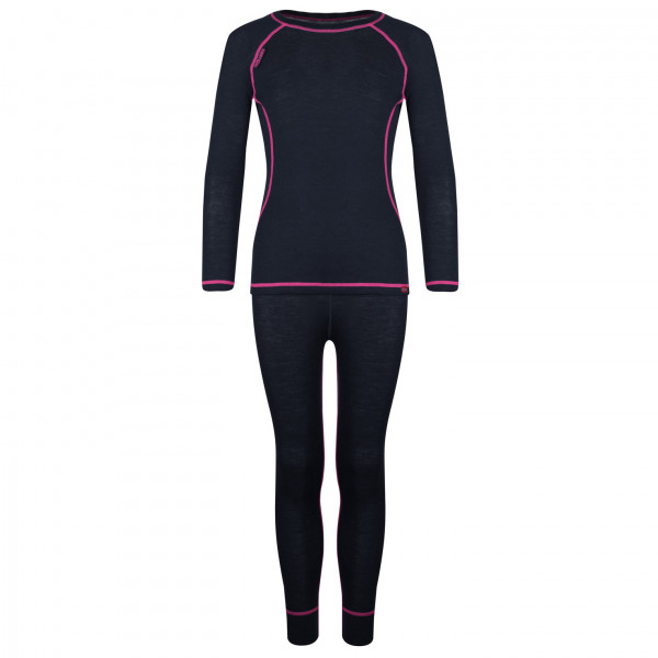 Trollkids - Girl's Merino Baselayer Set - Merinoundertøy