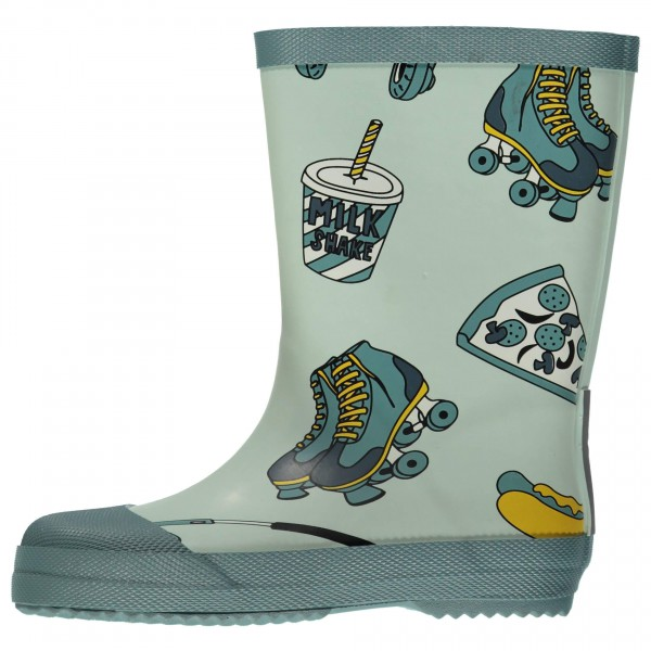 Smafolk - Kid's Rubber Boots With Food Print - Gummistiefel