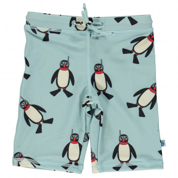 Smafolk - Kid's Swim Shorts Penguin - Badbyxa