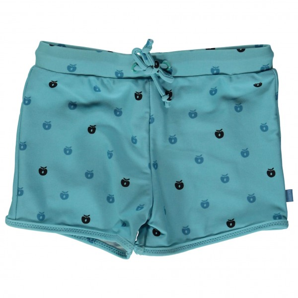 Smafolk - Kid's Swimshorts With Short Legs And Apples - Uimahousut