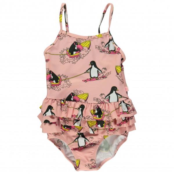 Smafolk - Kid's Swimsuit With Surf Penguin - Badpak