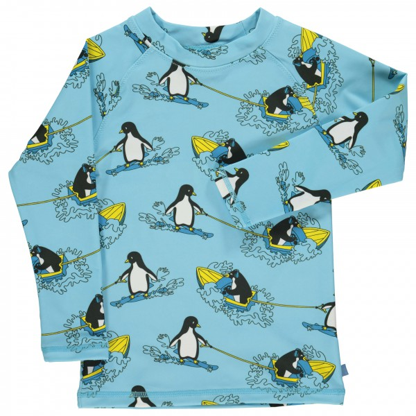 Smafolk - Kid's UV T-Shirt With Surf Penguin - Lycra
