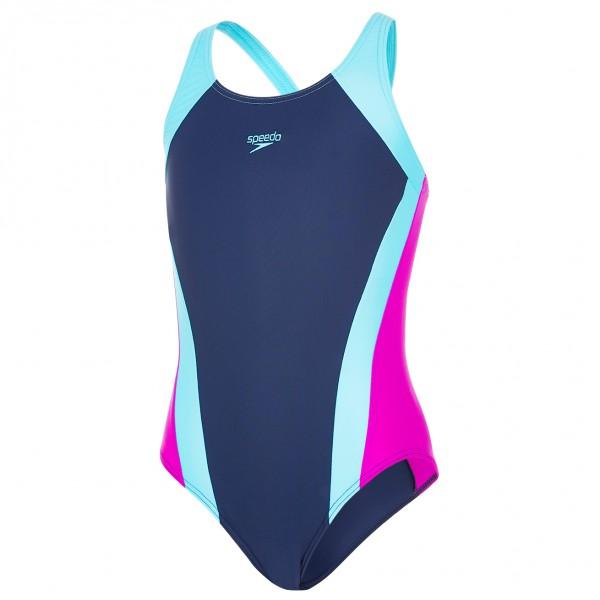 Speedo - Kid's Contrast Panel Splashback - Swimsuit