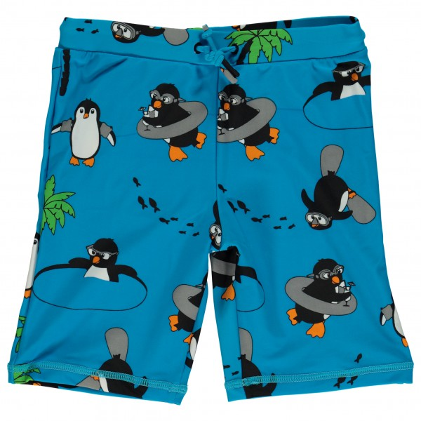 Smafolk - Kid's UV50 Swimpants With Long Leg And Penguin - Uimahousut