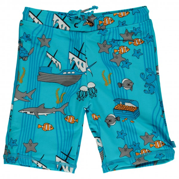 Smafolk - Kid's UV50 Swimpants With Long Leg And Sea World - Swim brief