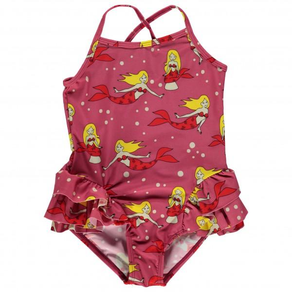 Smafolk - Kid's UV50 Swimsuit With Ruffles And Mermaid - Badedragt