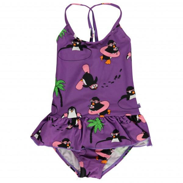 Smafolk - Kid's UV50 Swimsuit With Skirt And Penguin - Badedragt
