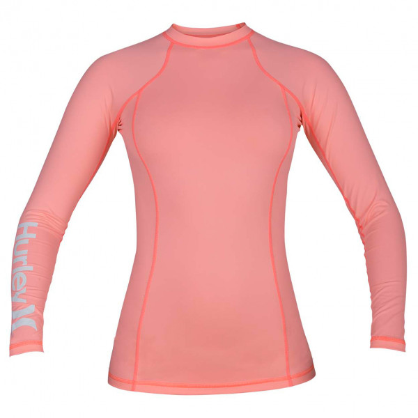 Hurley - Girl's One & Only Rashguard L/S - Lycra