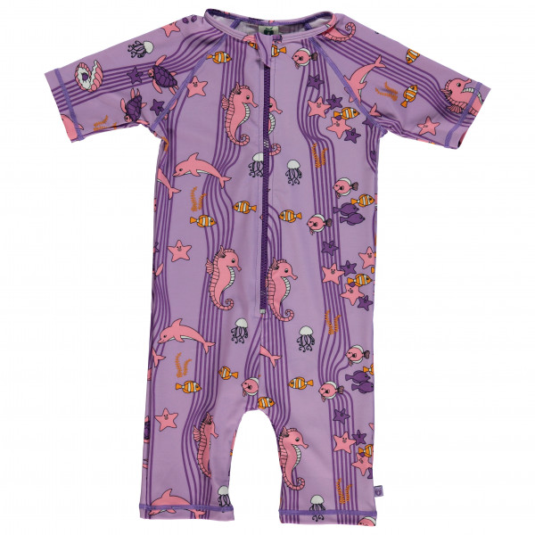 Smafolk - Kid's UV50 UV Suit Short S/L and Ocean - Lycra