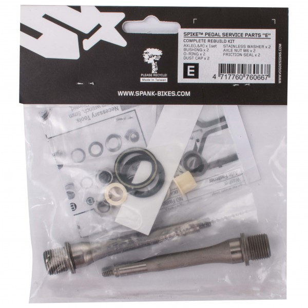 Spank - Spike Pedal Repair Kit E - Pedale