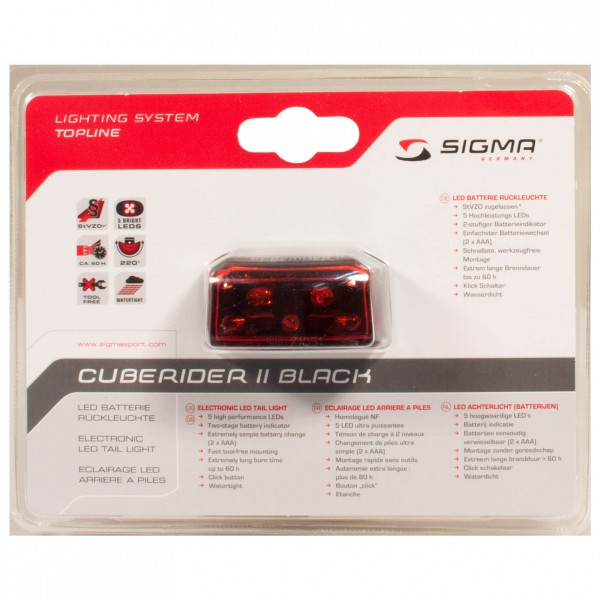 Sigma - Cuberider II - Achterlicht