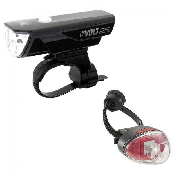 CatEye - Gvolt25/Rapid1G EL360GRC/LD611G - Bike light set