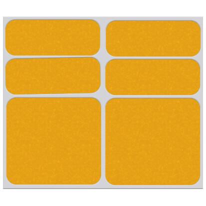 Shaman Racing - Reflective sticker set 6-Pack - Aufkleber